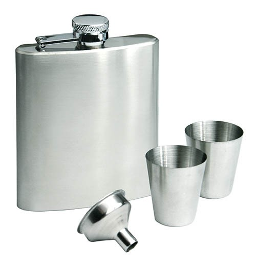 Gift set ALBYN (hip flask, 2 cups, funnel)