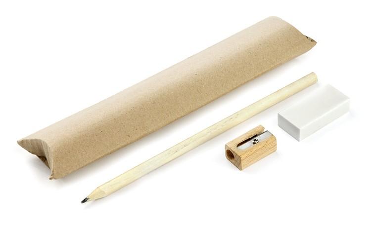 Sada EKO (tužka, ořezávátko, guma)