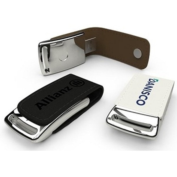exclusivní USB - chrom - kůže s uchycením na magnet
