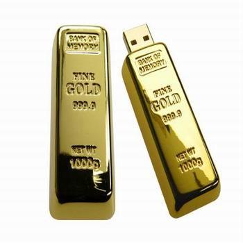 USB zlatá cihlička