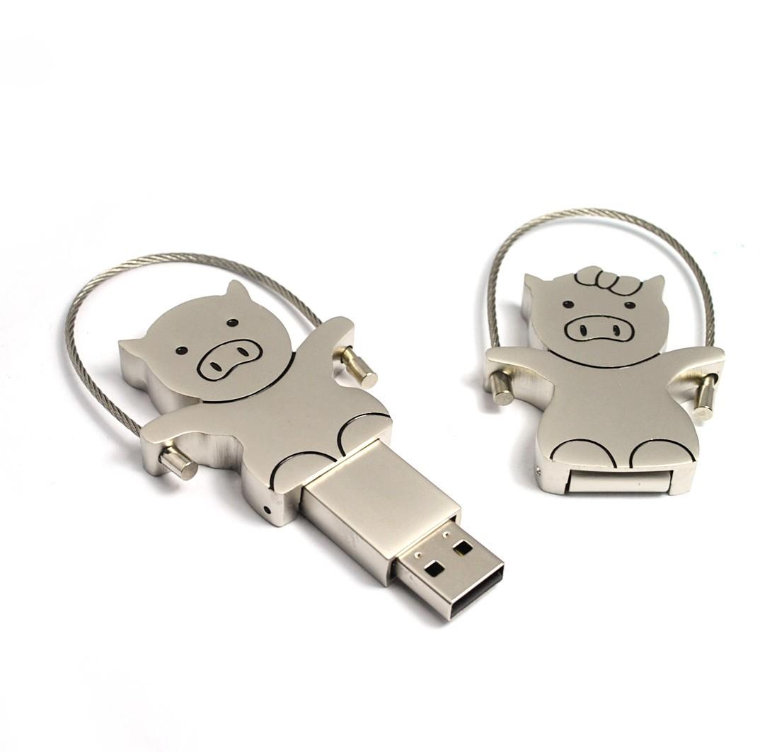 USB prasátko - šperk
