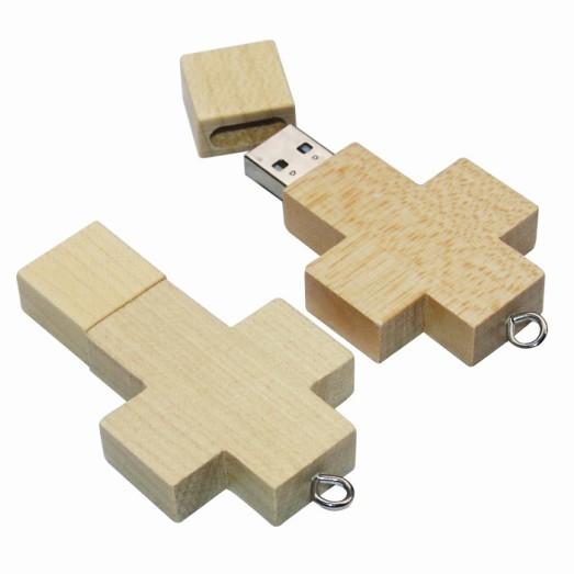 dřevěné USB - křížek