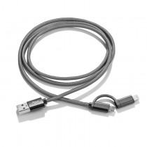 USB kabel 2 v 1 JEANS