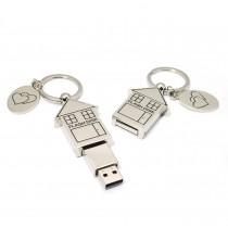 USB domeček - kov